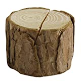 Set of 6 Natural Wood Miniature Log Place Card & Business Card Holders