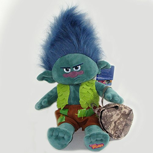 [Build A Bear Trolls Branch - Grumpy Branch with Grumpy voice and Free Backpack] (Treasure Troll Costumes)