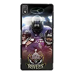 Cool XLVII Champions Design NFL Baltimore Ravens Phone Case Cover for Sony Xperia Z3 American Football Popular Cover Shell