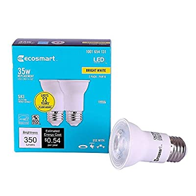 35W Equivalent Bright White PAR16 Dimmable LED Flood Light Bulb (2-Pack) 1001654131