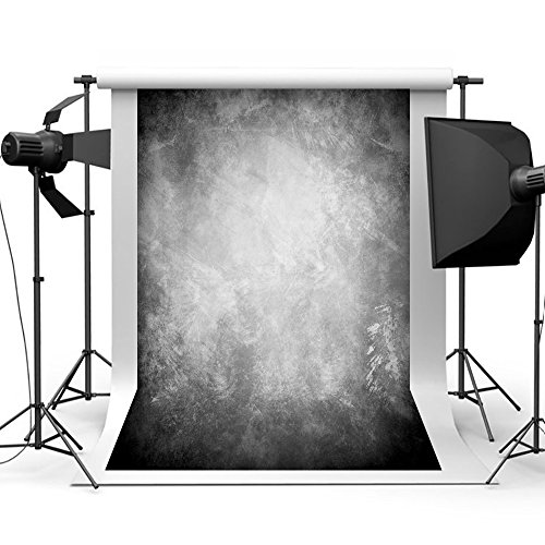 Portraits Senior Photography - Aisnyho Abstract Portrait Photography Backdrops Retro Art Background Bright Gray Studio Backdrop for Photographyer Shooting Photo Video Props 5 x 7ft