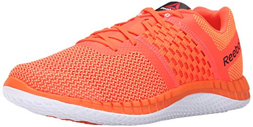 (Reebok Men's Zprint Run Running Shoe, Electric Peach/Atomic Red/White, 7 M US)
