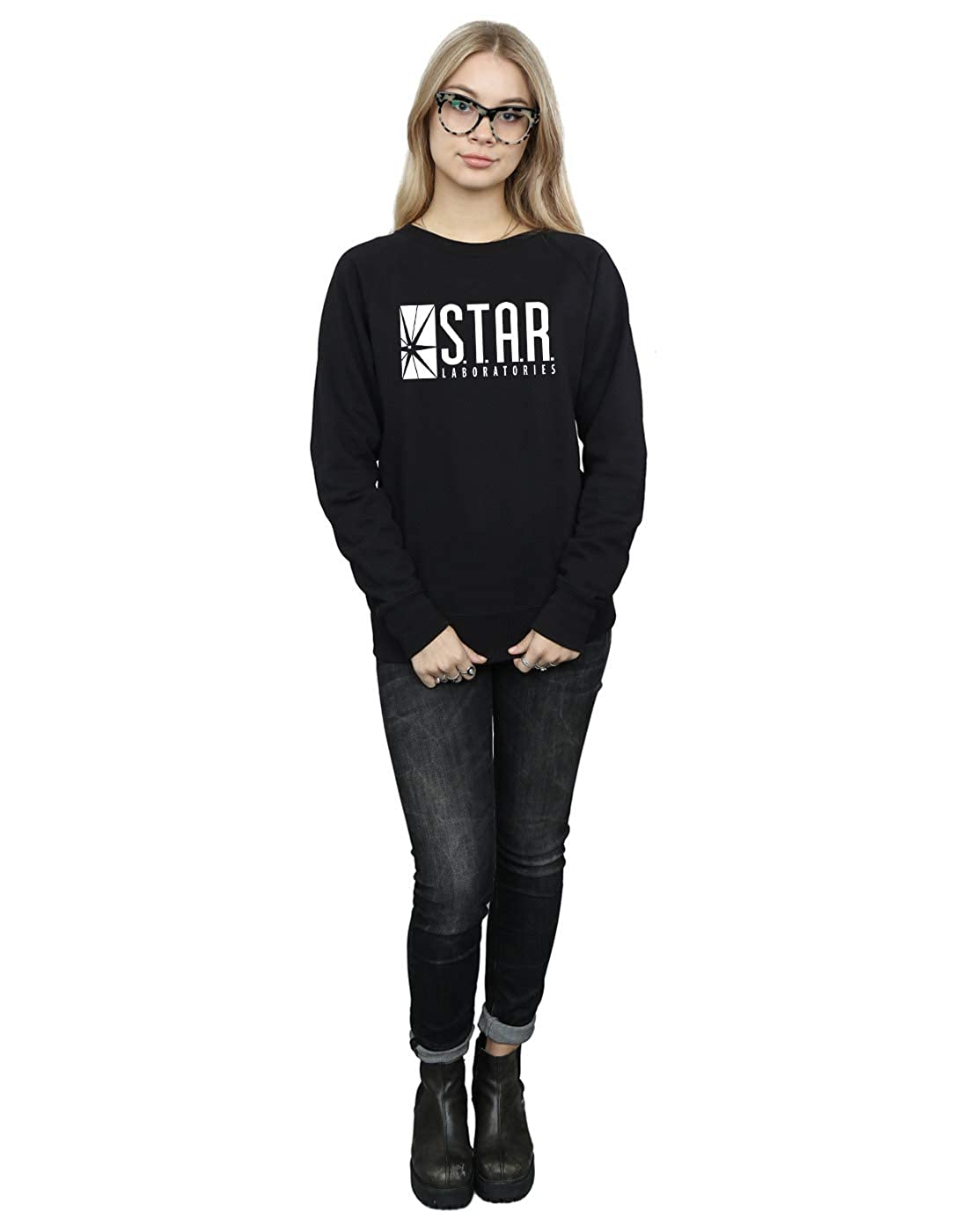 Comics Labs Star Dc The Flash Sweatshirt Women's uTF1l35KJc