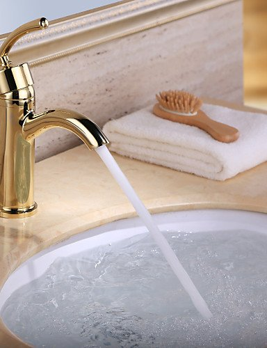 antike ti-PVD-Finish Messing ein Loch Einhand Waschbecken Wasserhahn