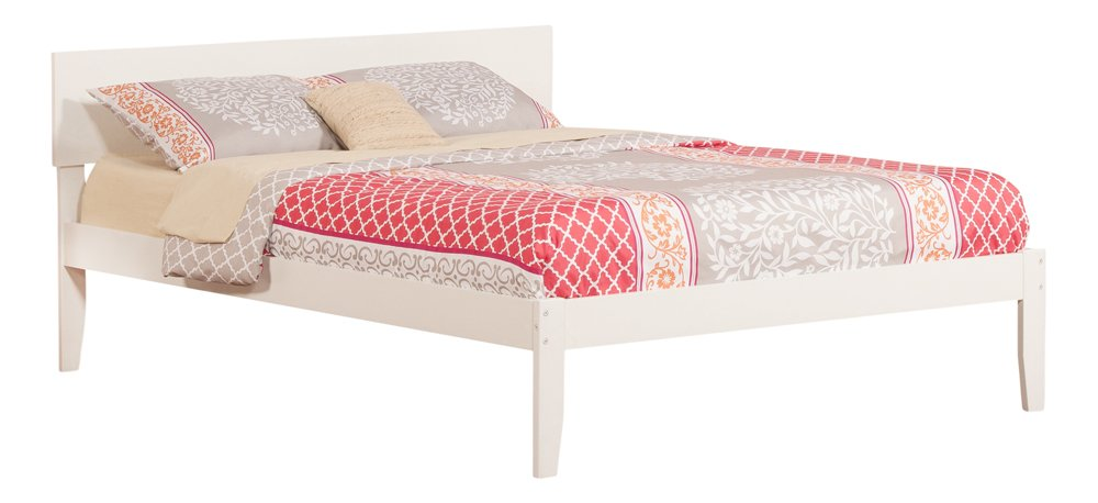 Amazon.com: Orlando Open Foot Bed, Queen, White: Kitchen & Dining