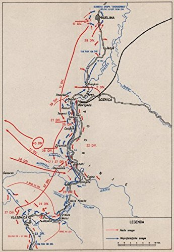 Yugoslavia Combate Ops Drina Valley Jan 1945 Loznica Bijeljina