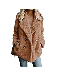 WDAIY-Digital-House Winter Woolen Women Jacket Long Sleeve Jackets Double Breasted Warm Coat Overcoat