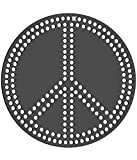 Rhinestone Genie Peace Sign Magnetic Rhinestone Template