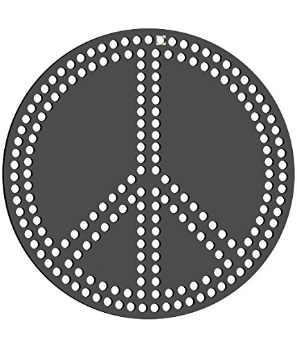 (Rhinestone Genie Peace Sign Magnetic Rhinestone Template)