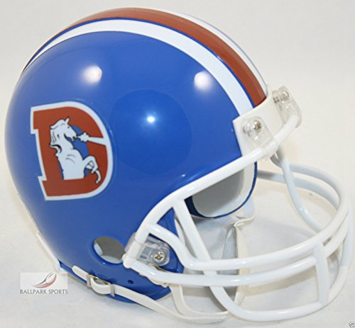 1996 Riddell Mini - Denver Broncos 1975-1996 Throwback Riddell Mini Football Helmet - New in Riddell Box