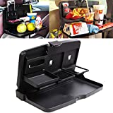 Hawk Fold Down Plastic Snack Tray for Back Set of Auto