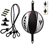 RDX Leather Boxing Speed Ball MMA Double End Dodge Bag Floor to Ceiling Rope Training Punching...