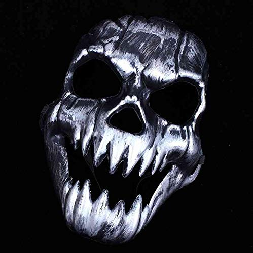 Morrenz - New Party Mask Scary Ghost Skeleton Skull Head Masks for Halloween Party Decor Silver Color