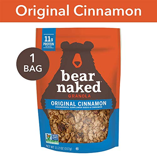 Bear Naked Original Cinnamon Granola - Non-GMO | Kosher | Vegetarian Friendly - 11.2 Oz