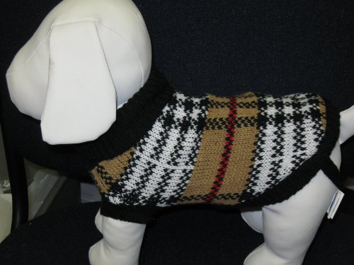 Dog Sweater Size 8 Measure From Base of Neck to Base of Tail 8″=Size8, My Pet Supplies
