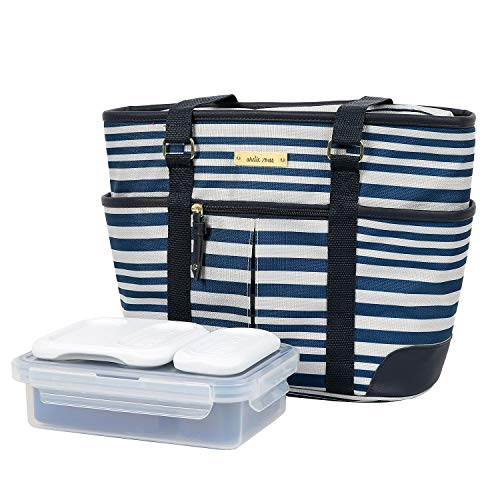 Arctic Zone Ladies Lunch Tote Insulated Bucket - Gazebo Stripes (Bags Artic Zone Lunch)