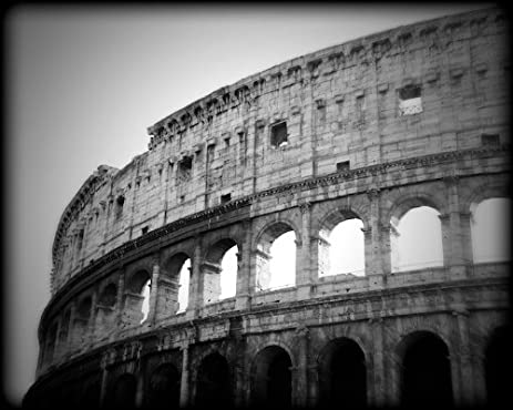 Roman coliseum black and white print rome italy itbw3951 8x10