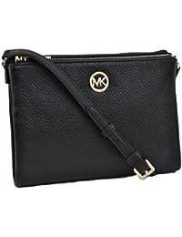 Michael Kors Fulton Crossbody Bag Leather Black (35T6GFTC7L)