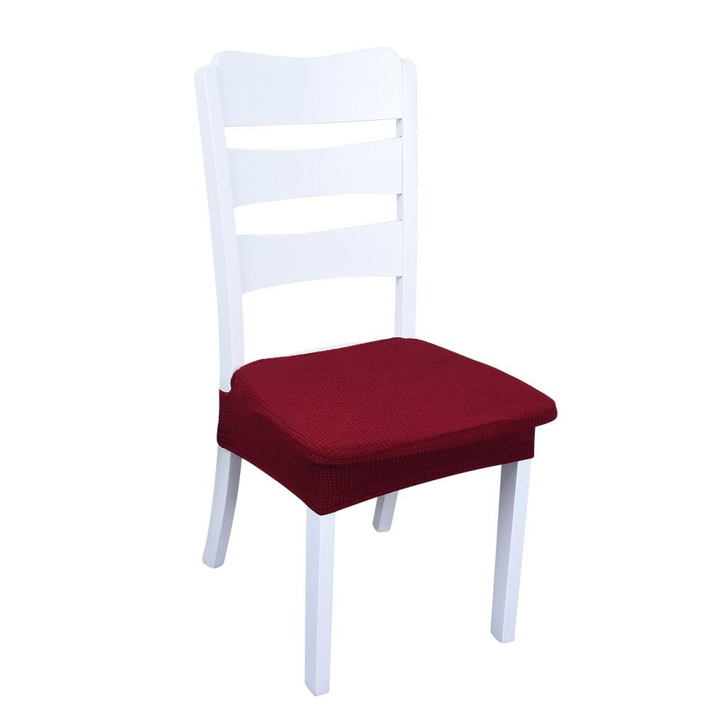 Sundlight Chair Seat Covers, 4PCS Polyester Fiber Spandex Stool Chairs Covers Dust-proof and Waterproof Slipcover for Dining Room Patio Office Chair,Bar Stools