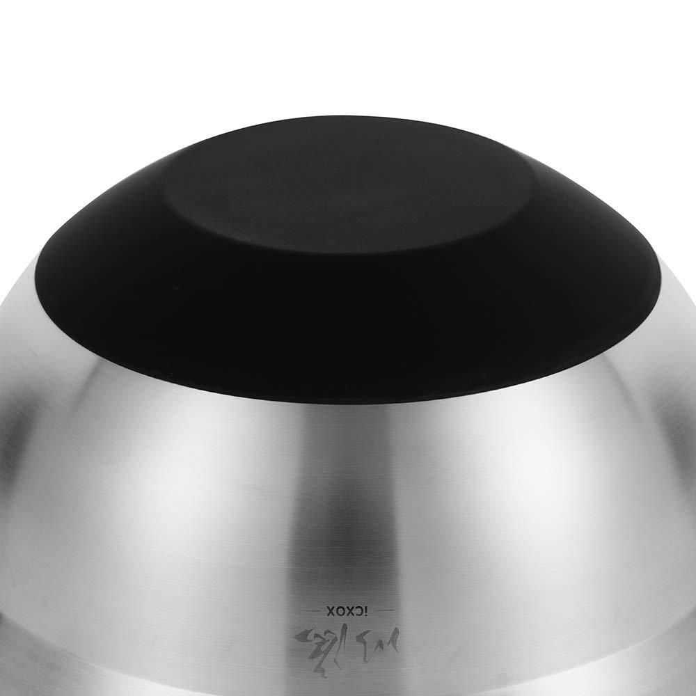 Edelstahl 18//10 Silber 9,6 inches icxox 2,25L R/ührsch/üssel