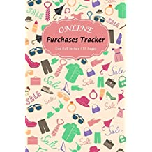 Online Purchases Tracker: Shopping Expense Tracker Personal Log Book Fashion and Clothes Accessories Pattern