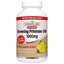 Natures Aid 1000mg Evening Primrose Oil - Pack of 180 Capsules