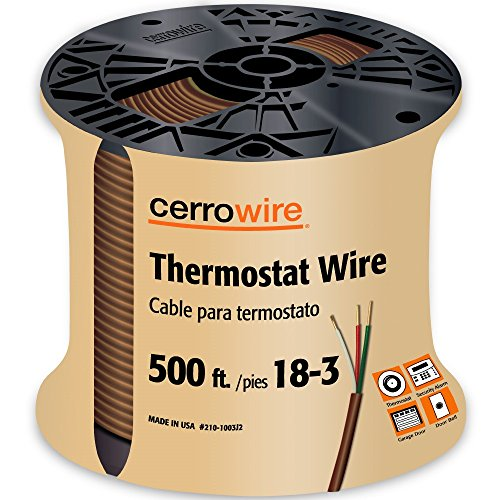 CERRO 210-1003J2 500-Feet 18/3 Thermostat Brown Wire, 500-Foot, 18-Gauge, 3 Ground -