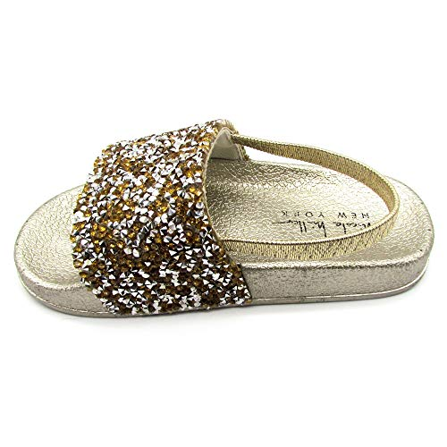 rk Toddler and Little Girls Jeweled Slide Sandals - Size 7 ()
