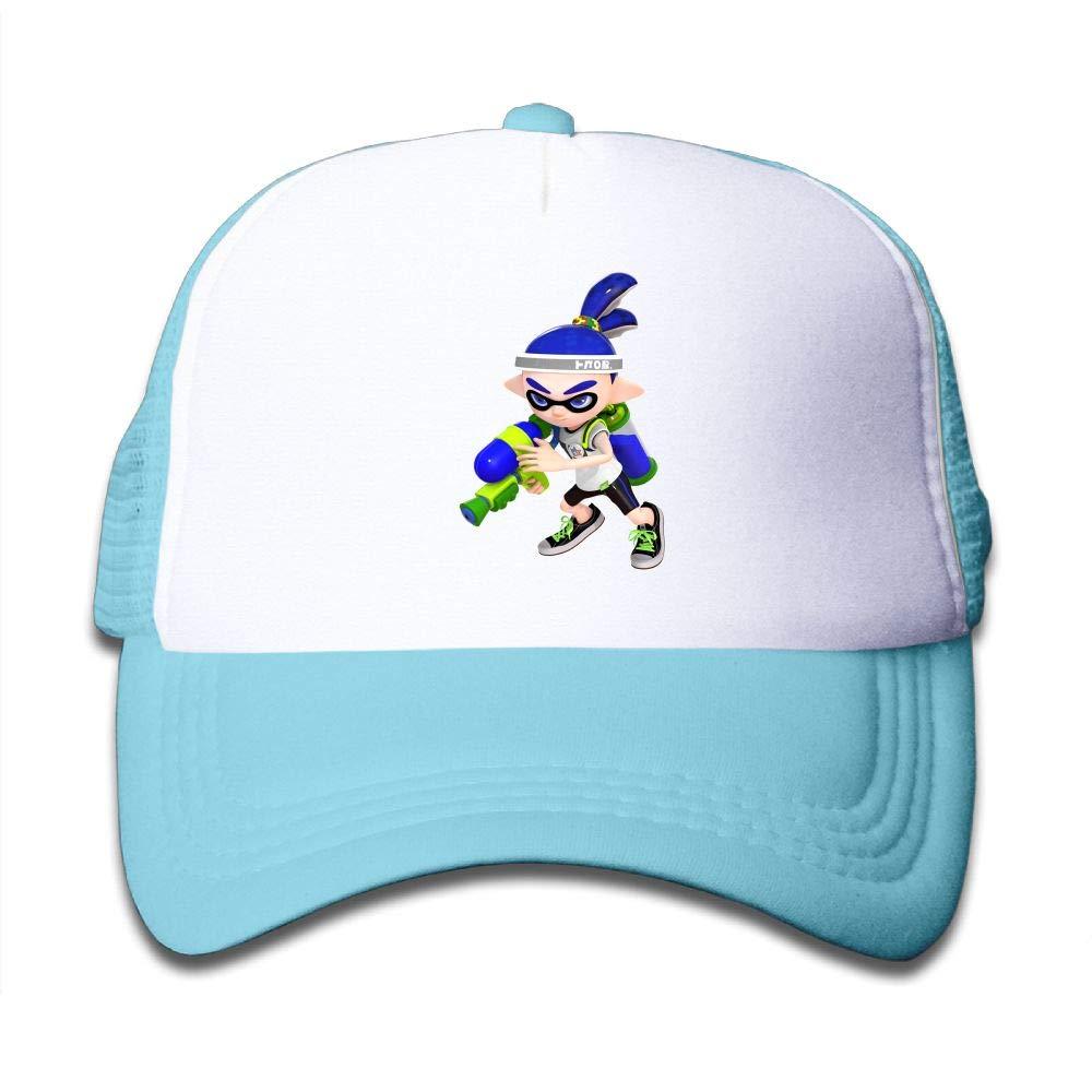 Aidear Splatoon Lnkling Boy Render Youth Girls Mesh Hat Fashion Child Mesh Hat One Size