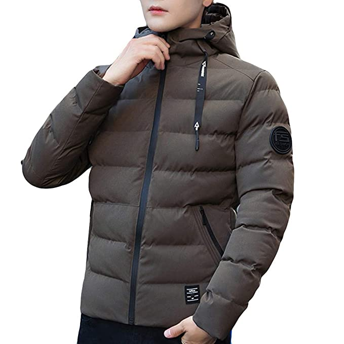 Internet-Chaqueta de algodón de Color sólido para Hombres, Abrigo con Capucha con Cremallera(M-4XL): Amazon.es: Ropa y accesorios