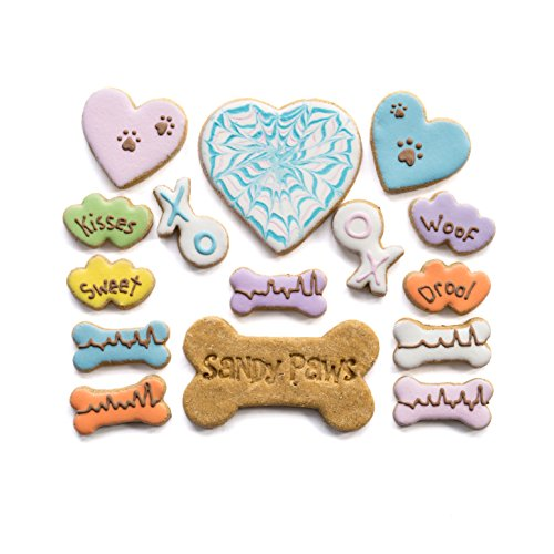 Sandy Paws Gourmet Dog Treats - Organic Decorated Dog Cookies - Valentines Day Box