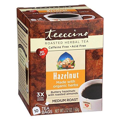 Teeccino Hazelnut Herbal Coffee 10 Tea Bags