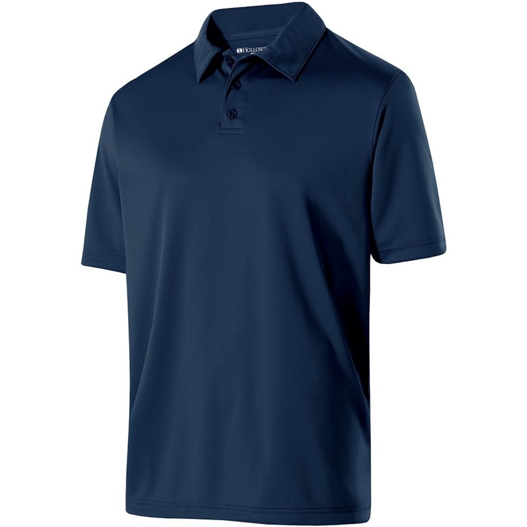 Holloway Mens Dry Excel Shift Polo (Large, Navy) by Holloway