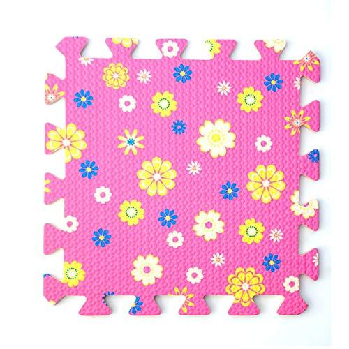 - Flower Soft EVA Foam Puzzle Play Mat Baby 9pcs 16pcs Exercise Tiles Interlock Floor Crawling Pad 30x30cmx1cm