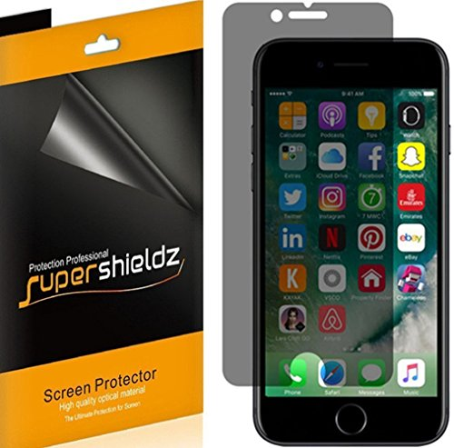 Spy Shield - [2 Pack] Supershieldz- Privacy Anti-Spy Screen Protector Shield for Apple iPhone 8 Plus - Lifetime Replacement