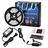 LED Light Strip 5M 150LEDs 5050SMD RGB LED Strip Full Kit with Remote Control and Power Supply
