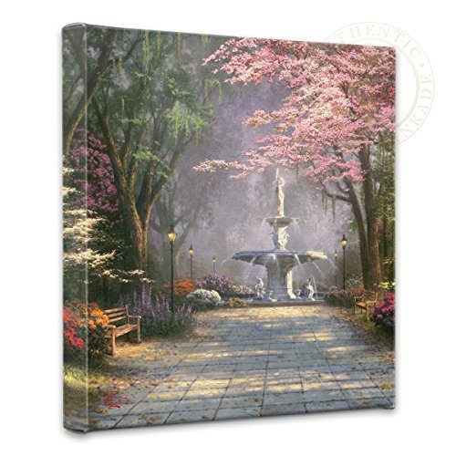Thomas Kinkade - Gallery Wrapped Canvas , Savannah Romance , 14