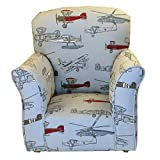 Airplane Print Toddler Rocker - Cotton Rocking Chair