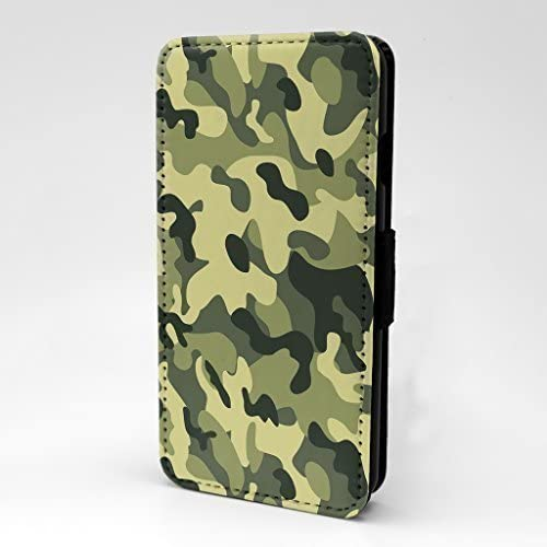 S-G1263 Green Accessories4Life Army Camo Camoflage Printed Printed Front PU Leather Wallet Flip Case Cover With Card Slots /& Magnetic Closing Clasp For Apple iPod Touch 5th Generation