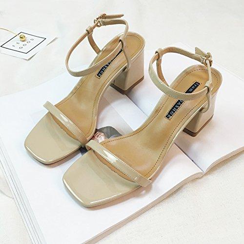 SHOESHAOGE Elegante Temperamento Dew-Like Tacones Altos En El Late-Night Zapatos De Mujer Planas con Gruesas con Sandalias Mujer,Eu34 EU37