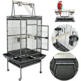 "Nova Microdermabrasion 70"" Large Bird Cage Play Top Parrot Cockatiel Parakeet Chinchilla Macaw Cockatoo Cage W/Stand Perch Pet Supplies"