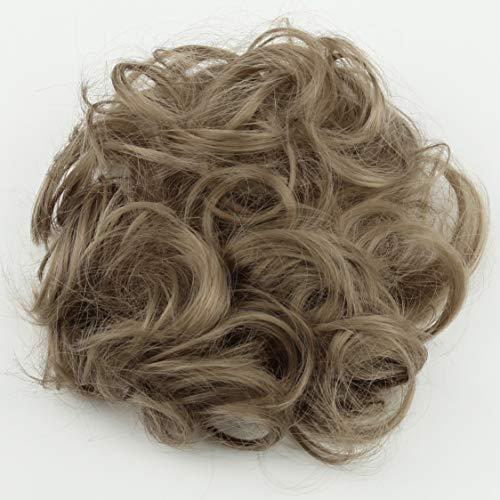 (PRETTYSHOP Scrunchie Scrunchy Bun Up Do Hair piece Hair Ribbon Ponytail Extensions Wavy Curly or Messy blonde 103)