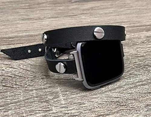 Amazon.com: Double Wrap Black Genuine Leather Bracelet For
