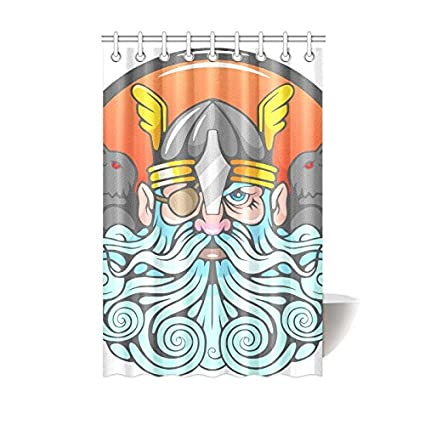 Amazon Shower Curtain God Odin And Ravens Polyester Fabric