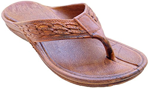 Pali Hawaii Surfer Brown Rubber Sandals 11