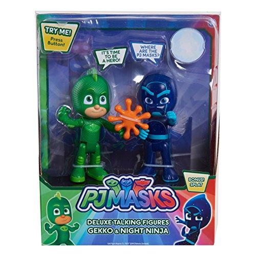 PJ Masks Talking Figure Set - Gekko vs Night Ninja