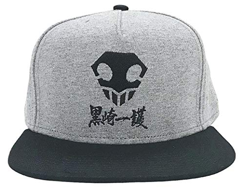 Ripple Junction Bleach Adult Unisex Smiling Skull Flat Bill Jersey Hat One Size Heather Grey/Black