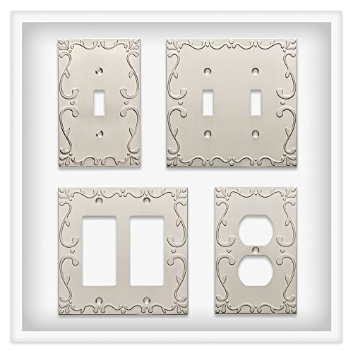Franklin Brass W35072-SN-C Classic Lace Single Decorator Wall Plate/Switch Plate/Cover, Satin Nickel by Franklin Brass (Image #3)