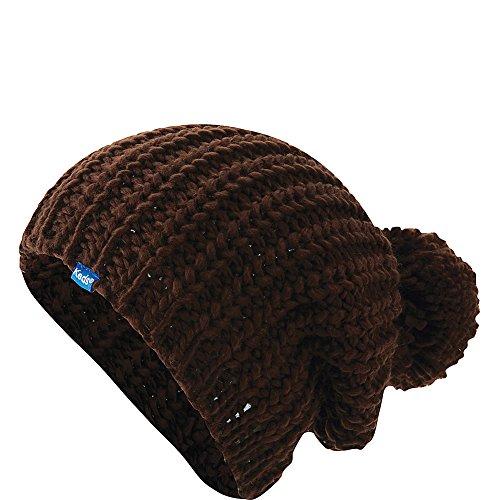 Keds Womens Chunky Knit Pom Beanie Cocoa Brown
