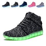 MONEM HighTopUSBChargingLEDShoesFlashingFashion SneakersForKids Boots